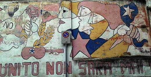 murales della brigada Neruda, com'è oggi - foto di Paolo Rausa