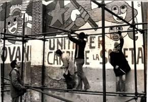 il murales dei ragazzi sangiulianesi (affianco a quello della brigada) - foto di Paolo Rausa